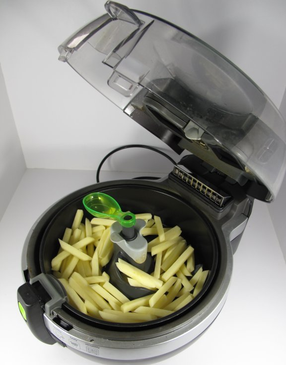 Actifry with Raw Chips