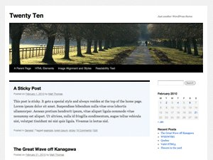 Twenty Ten Theme