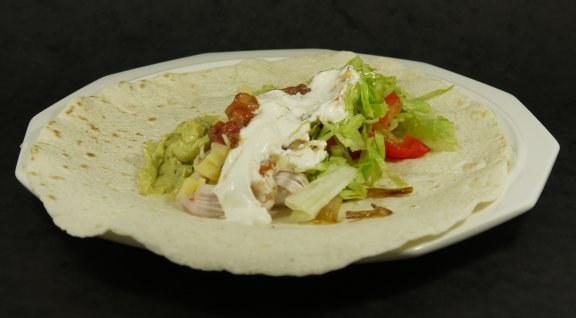 Plated Chicken Fajitas