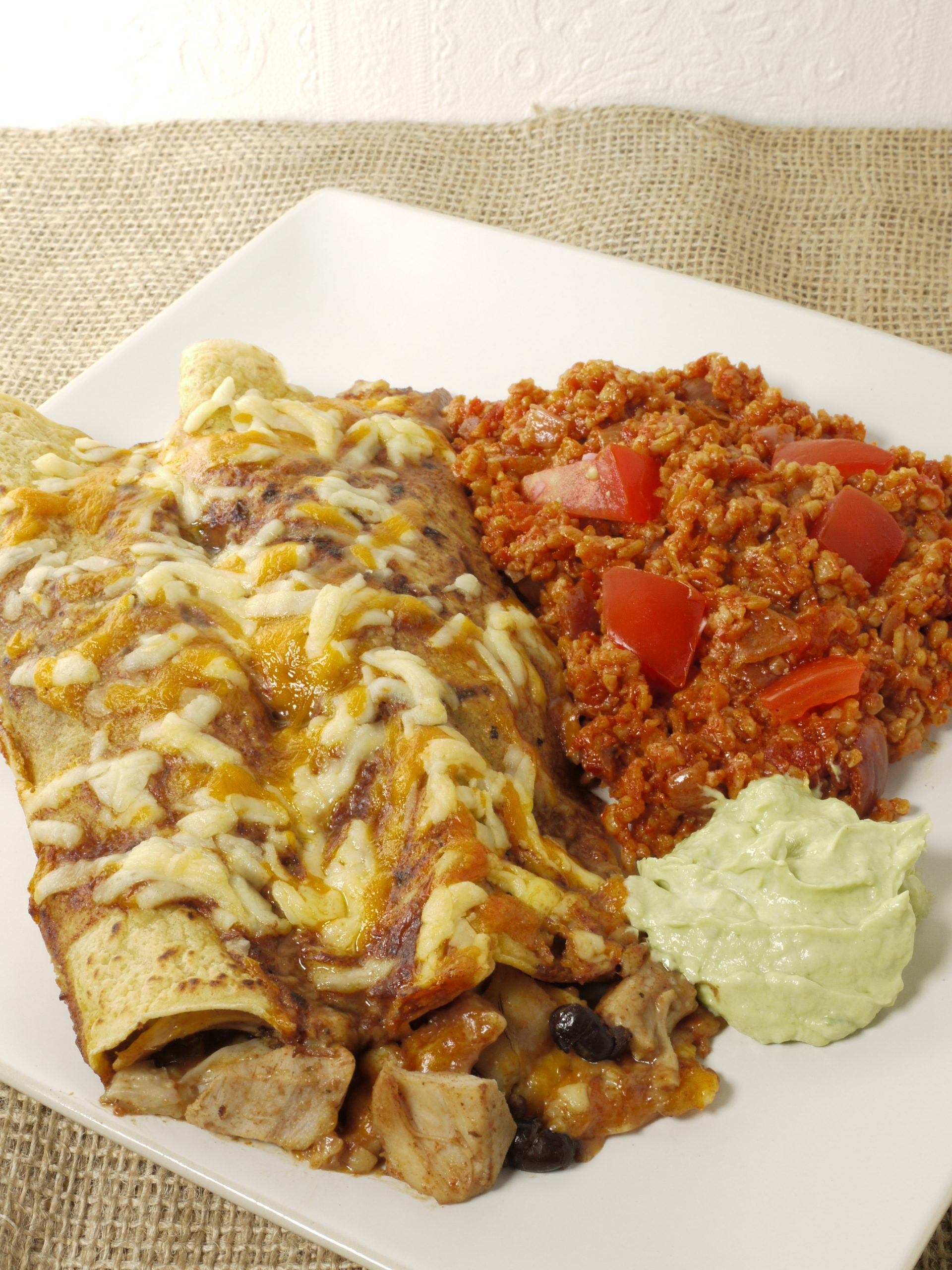 What to do with leftover cooked chicken make Chicken Enchiladas from Leftovers by Design