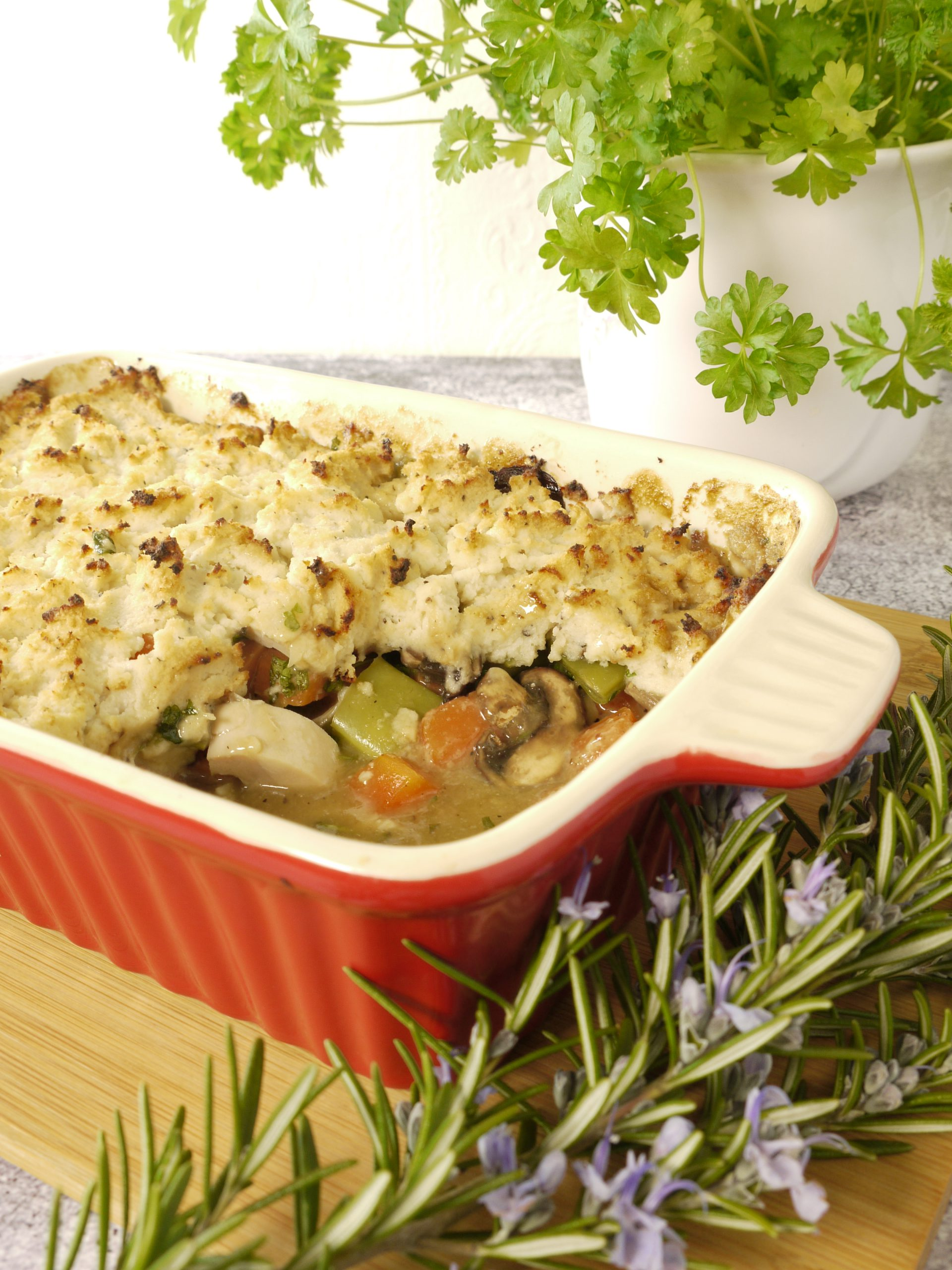 What to do with leftover cooked chicken make Chicken Pie from Leftovers by Design