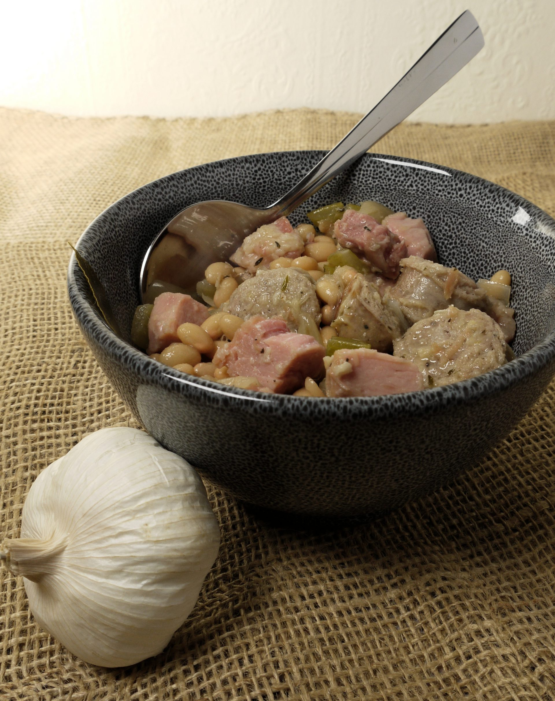 What to do with leftover pressure cooked gammon or ham recipes make Ham Cassoulet sans Canard from Leftovers by Design
