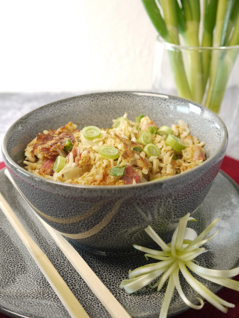What to do with leftover pressure cooked gammon or ham recipes make Ham and Egg Fried Rice from Leftovers by Design