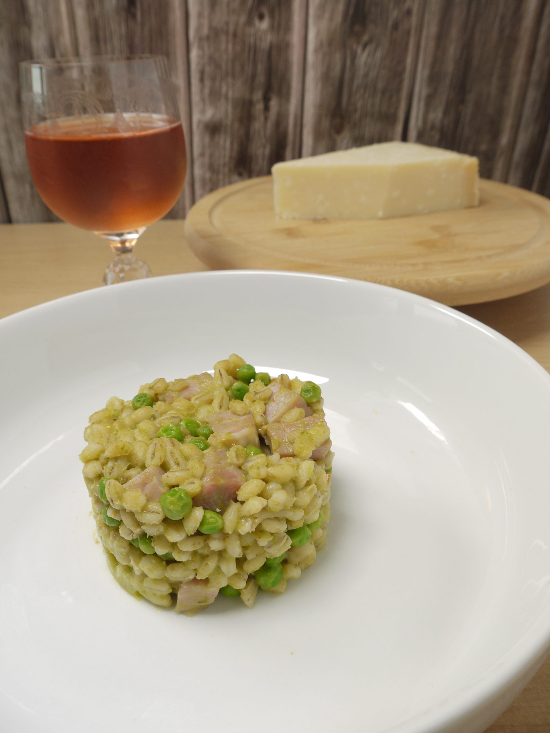 What to do with leftover pressure cooked gammon or ham recipes make Ham and Pea Pearl Barley Risotto from Leftovers by Design
