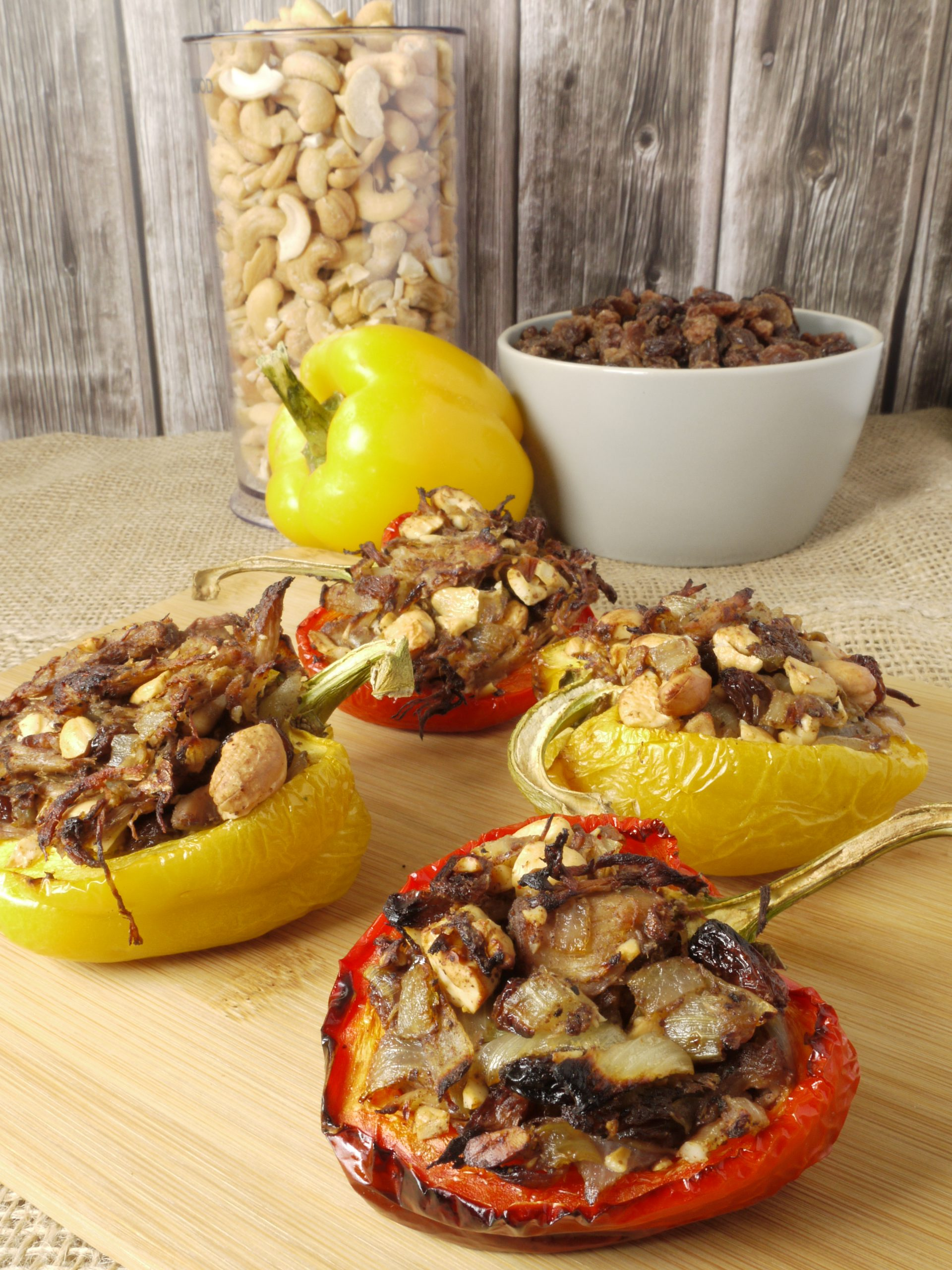 What to do with leftover Instant Pot sous vide pulled pork make Pulled Pork Stuffed Peppers from Leftovers by Design
